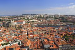 Skyline em Portugal, vista aérea de Porto Foto de Stock