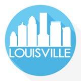 Louisville Kentucky United States Of America USA Round Icon Vector Art Flat Shadow Design Skyline City Silhouette Template Logo vector illustration