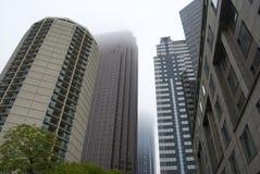 Skyline enevoada de Philadelphfia Fotografia de Stock