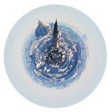 Skyline esférica de Paris com DES Invalides do hotel Fotografia de Stock Royalty Free