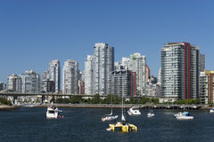 Skyline at false creek Stock Photo