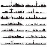Skyline of famous city. Vector illustration of skyline of tall building of famous city Stock Photography
