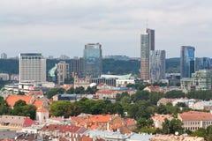 Skyline financial centre of Vilnius, Lithuania Stock Photo