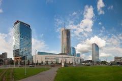 Skyline financial centre of Vilnius, Lithuania Stock Photos