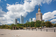 Skyline financial centre of Warsaw Royalty Free Stock Images