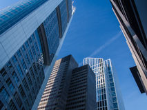 Skyline in the financial district of Frankfurt, Germany Stock Photo