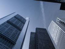Skyline in the financial district of Frankfurt, Germany Stock Images