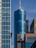 Skyline in the financial district of Frankfurt, Germany Stock Photos