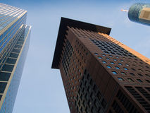Skyline in the financial district of Frankfurt, Germany Royalty Free Stock Photo