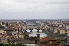 Skyline of Florence city with cloudy weather Stock Photo