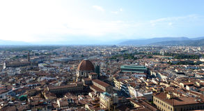 Skyline of Florence, Italy, with train station Stock Photos