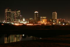 Skyline of Fort Worth. Fort Worth skyline captured at night. Nightlife of Fort Worth royalty free stock photography