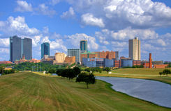 Skyline of Fort Worth Texas. View of skyline of Fort Worth Texas stock photos