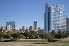 Skyline of Fort Worth TX. Downtown of Fort Worth TX, USA stock images