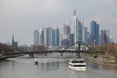 Skyline Francoforte imagens de stock