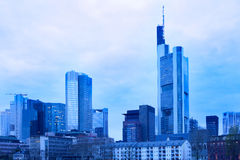 Skyline of Frankfurt Stock Photo
