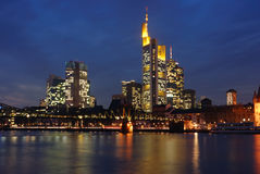 Skyline of Frankfurt. Germany, modern finance district Royalty Free Stock Photography