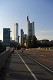 Skyline of Frankfurt Stock Photos