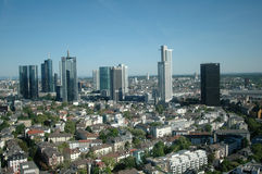 Skyline Frankfurt Stockfotos