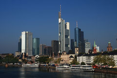 Skyline of Frankfurt Stock Images