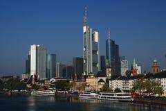 Skyline of Frankfurt Stock Images
