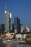 Skyline of Frankfurt Stock Photography