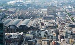 Skyline of Frankfurt city in Germany Royalty Free Stock Photo