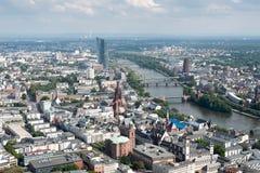 Skyline of Frankfurt city in Germany Stock Photo