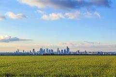Skyline of Frankfurt Royalty Free Stock Photo