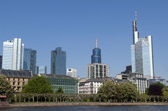 Skyline of Frankfurt Germany Royalty Free Stock Image