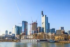 Skyline of Frankfurt, Germany Royalty Free Stock Photography