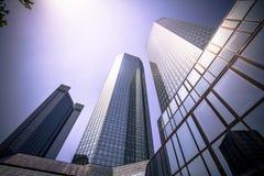 Skyline of Frankfurt Stock Photos