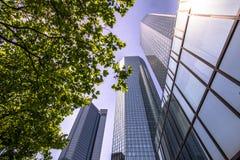 Skyline of Frankfurt Stock Image