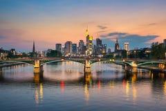 Skyline of Frankfurt, Germany royalty free stock photos