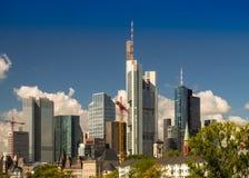 Skyline in Frankfurt, Germany Royalty Free Stock Photos
