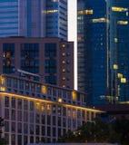Skyline of Frankfurt, Germany, at sunset Stock Photography
