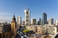 Skyline of Frankfurt am Main Stock Images