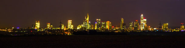 Skyline of Frankfurt am Main Royalty Free Stock Photography