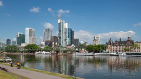 Skyline of Frankfurt Main, Germany stock video
