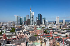 Skyline of Frankfurt Main, Germany Royalty Free Stock Image