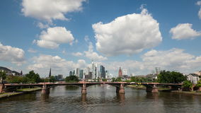 Skyline of Frankfurt Main, Germany stock footage