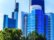 Skyline of Frankfurt am Main, Germany Royalty Free Stock Photography