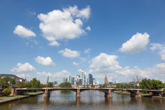 Skyline of Frankfurt Main, Germany Royalty Free Stock Photo