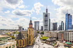 Skyline of Frankfurt am Main with Hauptwache stock image