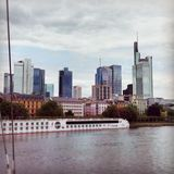 Skyline of Frankfurt. Picture from the skyline of Frankfurt am Main, Hessen, Germany royalty free stock photo