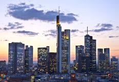 Skyline of Frankfurt Stock Image