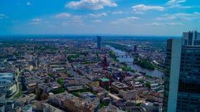 Skyline in Frankfurt royalty free stock photos