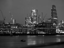 A skyline full of cranes. London skyline full of cranes looking over the thames river from southbank Stock Images