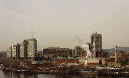 Skyline of Gatineau (Hull), Canada Stock Photography