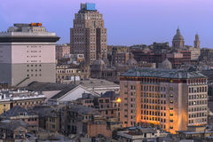 Skyline of Genova Stock Images